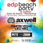 Ganha bilhetes para a EDP Beach Party