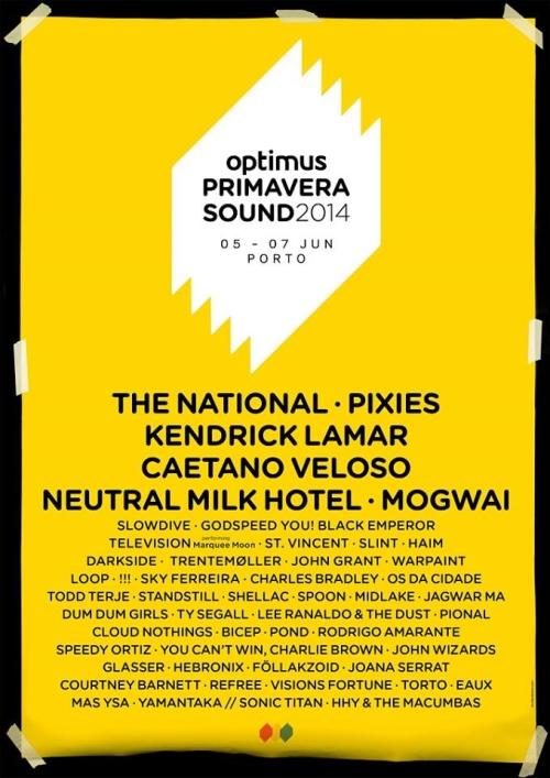 Optimus Primavera Sound 2014: conhece aqui o cartaz completo