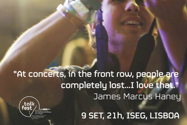 James Marcus Haney confirma presença Talk Music Sessions #4