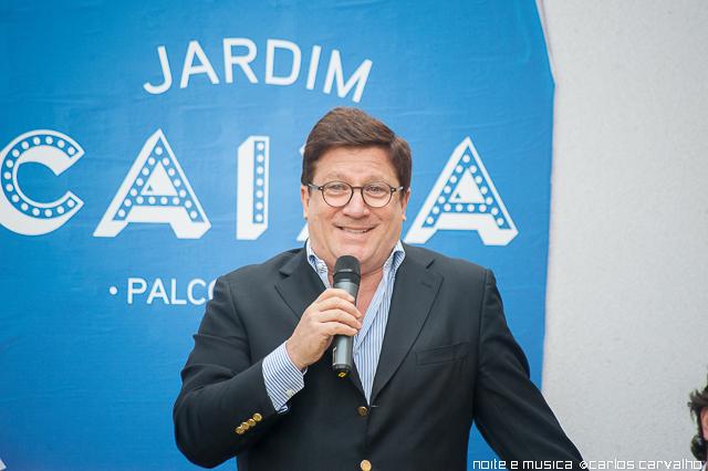 Herman José atua no Palco Jardim Caixa do Nos Alive