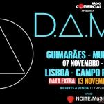 Passatempo D.A.M.A [ganha convites para os concertos em Guimarães e Lisboa]
