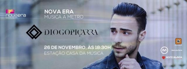 Diogo Piçarra é o próximo convidado da Nova Era Música a Metro