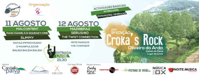 Festival Croka's Rock regressa a Castelo de Paiva em agosto