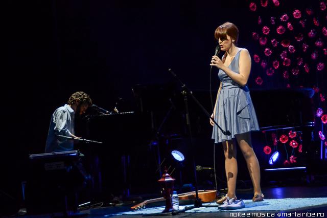 Luísa Sobral no Teatro São Luiz, em Lisboa: reportagem