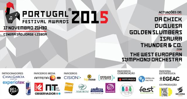 Portugal Festival Awards: vai à cerimónia com a Noite e Música