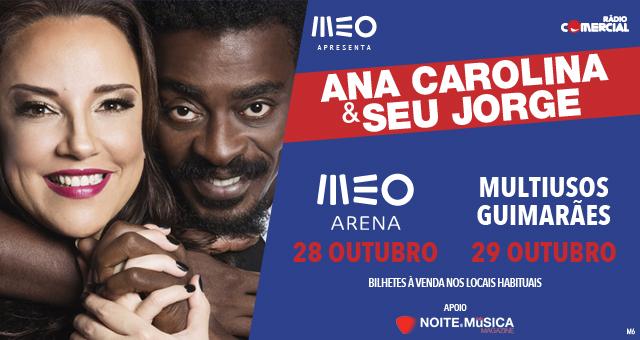 Ana Carolina & Seu Jorge [ganha convites para os concertos de Lisboa e Guimarães]