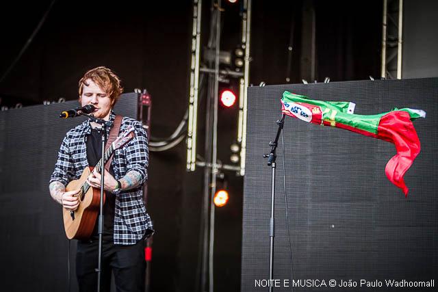 O primeiro concerto de Ed Sheeran em Portugal: recorda aqui as imagens do concerto no Rock in Rio-Lisboa 2014